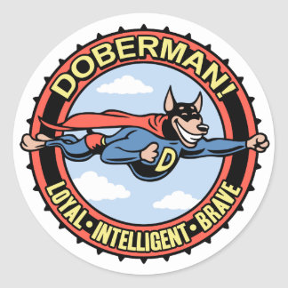 ¡Doberman! Pegatinas Redondas