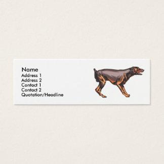 Doberman Pincher  Mini Business Card