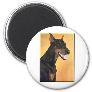 Doberman Pinscher 2 Inch Round Magnet