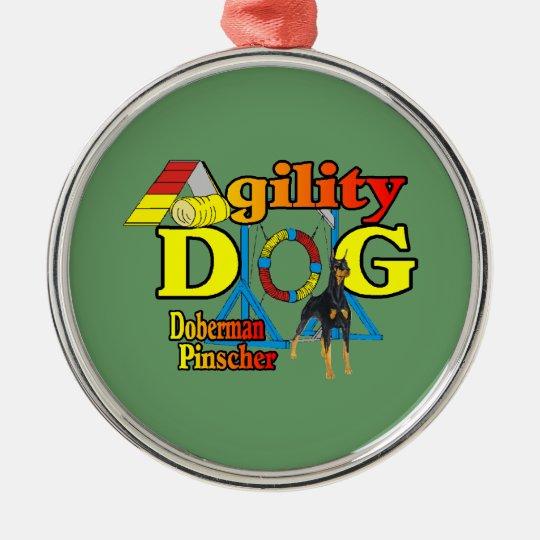 Doberman Pinscher Agility Gifts Metal Ornament