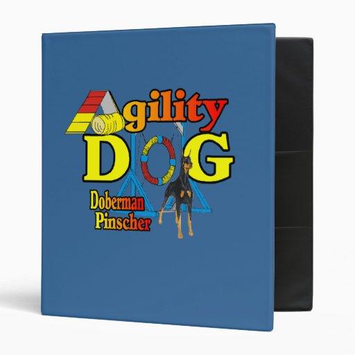 Doberman Pinscher Agility Gifts Vinyl Binders