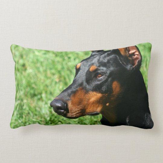 Doberman Pinscher American Mojo Lumbar Pillow