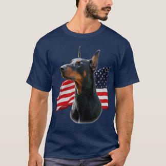Doberman Pinscher and Belgian Malinois w/ flags T-Shirt