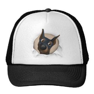 Doberman Pinscher (Black and Tan) Busting Out Trucker Hat
