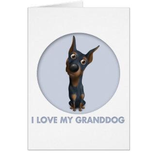 Doberman Pinscher (Black and Tan) Granddog Card