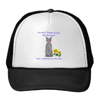 Doberman Pinscher Black Best Things In Life Hat