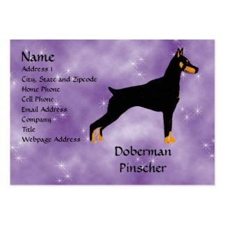 Doberman Pinscher - Black Body Business Card