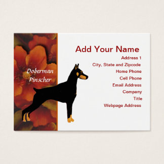 Doberman Pinscher - Black Body Business Card