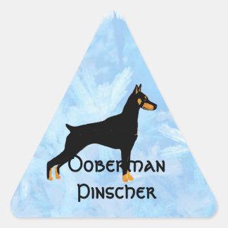 Doberman Pinscher - Black Body Triangle Sticker