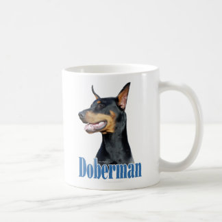 Doberman Pinscher (black) Name Coffee Mug