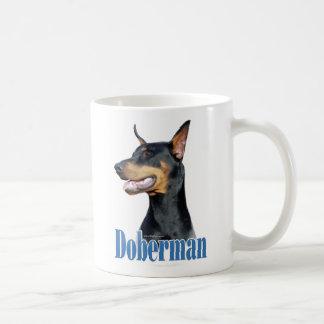 Doberman Pinscher (black) Name Classic White Coffee Mug