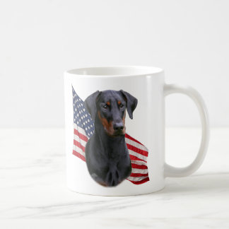 Doberman Pinscher- black natural eared Mug
