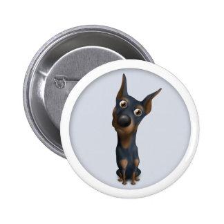 Doberman Pinscher (Black & Tan) Button DOB1