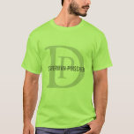 Doberman Pinscher Breed Monogram Design T-Shirt