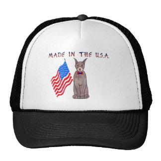 Doberman Pinscher Brown Made In The USA Hat