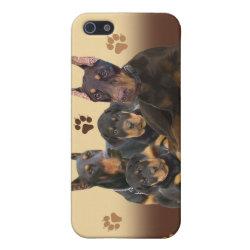 Case Savvy iPhone 5 Matte Finish Case with Doberman Pinscher Phone Cases design