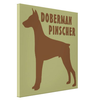 Doberman Pinscher Gallery Wrapped Canvas