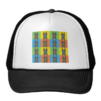Doberman Pinscher Cartoon Pop-Art Trucker Hat