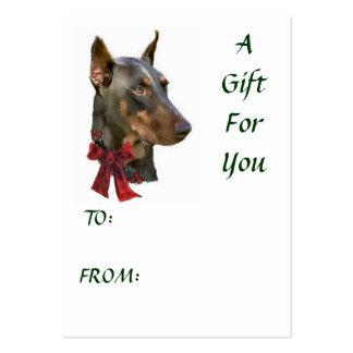 Doberman Pinscher Christmas Business Cards