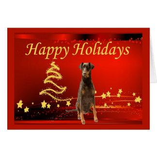 Doberman Pinscher Christmas Card Stars