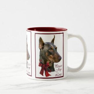 Doberman Pinscher Christmas Coffee Mugs
