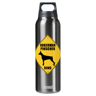Doberman Pinscher Crossing (XING) Sign SIGG Thermo 0.5L Insulated Bottle