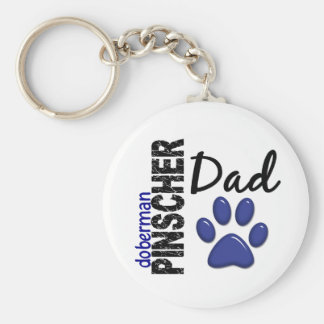 Doberman Pinscher Dad 2 Keychain