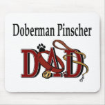 Doberman Pinscher DAD Gifts Mouse Pad