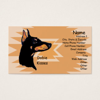 Doberman Pinscher ~ Dobie Kisses Business Card