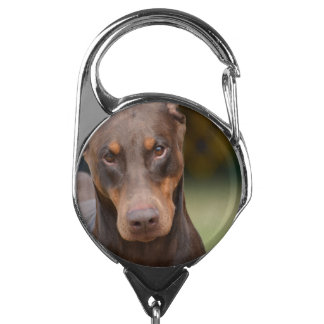 Doberman Pinscher Dog Badge Holder