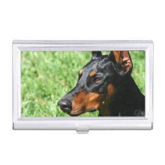 Doberman Pinscher dog Business Card Holders