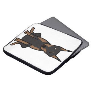 Doberman Pinscher Dog Cartoon Computer Sleeve