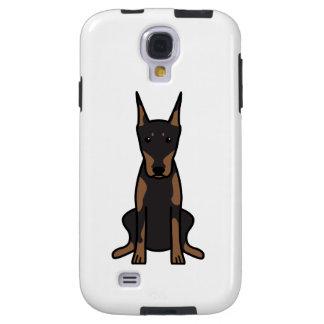 Doberman Pinscher Dog Cartoon Galaxy S4 Case