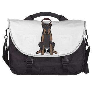 Doberman Pinscher Dog Cartoon Laptop Commuter Bag