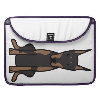 Doberman Pinscher Dog Cartoon MacBook Pro Sleeve