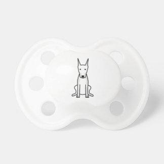 Doberman Pinscher Dog Cartoon Pacifier