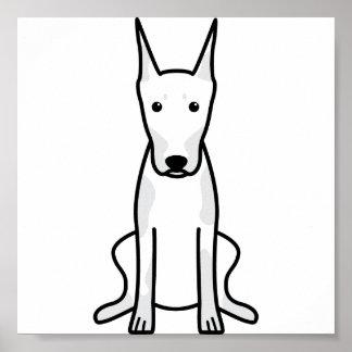 Doberman Pinscher Dog Cartoon Print