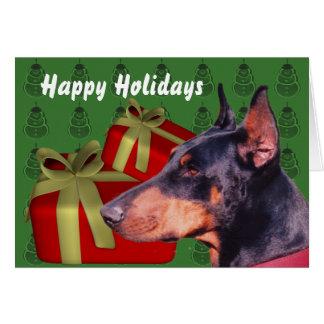 Doberman Pinscher Dog Christmas Holiday Card
