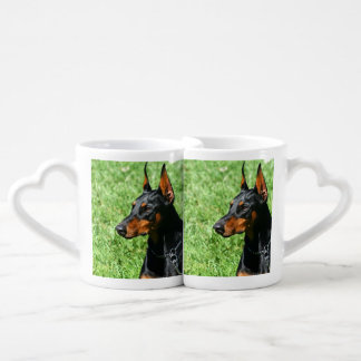 Doberman Pinscher dog Coffee Mug Set