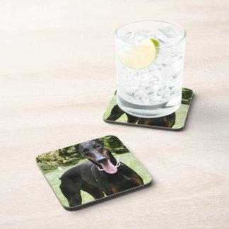 Doberman Pinscher Dog Cork Coasters