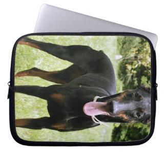 Doberman Pinscher Dog Electronics Bag Laptop Sleeve