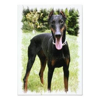 "Doberman Pinscher Dog Invitation 5"" X 7"" Invitation Card"