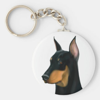 Doberman Pinscher Dog Keychain
