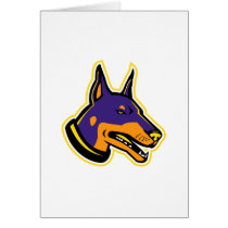 Doberman Pinscher Dog Mascot