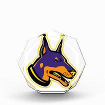 Doberman Pinscher Dog Mascot Acrylic Award