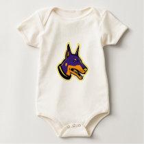 Doberman Pinscher Dog Mascot Baby Bodysuit
