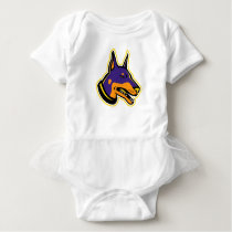 Doberman Pinscher Dog Mascot Baby Bodysuit