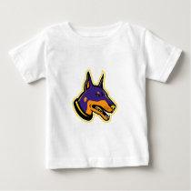 Doberman Pinscher Dog Mascot Baby T-Shirt
