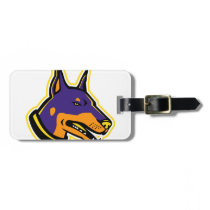 Doberman Pinscher Dog Mascot Bag Tag
