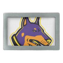 Doberman Pinscher Dog Mascot Belt Buckle
